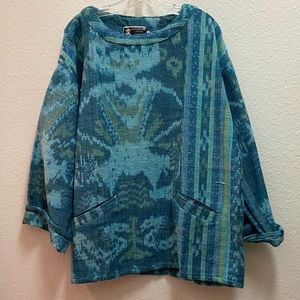NEW Blue LongSleeve Poncho/Shirt from Boutique